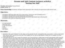 """Seeing Sea Salt"" Lesson Plan"