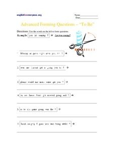 "Advanced Forming Questions - ""To Be"" Worksheet"