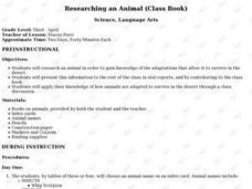 Researching an Animal (Class Book) Lesson Plan