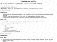 Culminating Activity Lesson Plan