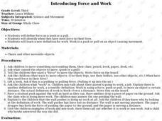 Introducing Force and Work Lesson Plan