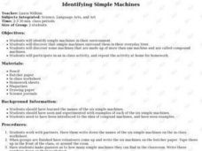 Identifying Simple Machines Lesson Plan