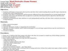 Word Portraits (Name Poems) Lesson Plan