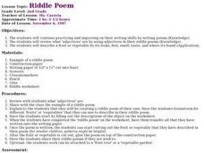 Riddle Poem Lesson Plan