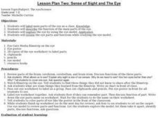 Lesson Plan Two: Sense of Sight and The Eye Lesson Plan
