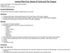 Sense of Taste and the Tongue Lesson Plan