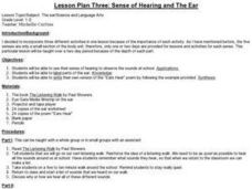 Lesson Plan Three: Sense of Hearing and The Ear Lesson Plan