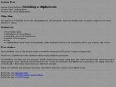Building a Diplodocus Lesson Plan