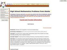 High School Mathematics Problems from Alaska:     Tourist and Traveler Information Lesson Plan