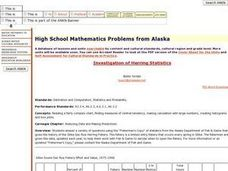 High School Mathematics Problems from Alaska: Investigation of Herring Statistics Lesson Plan