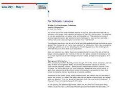 Due Process Freedoms Lesson Plan