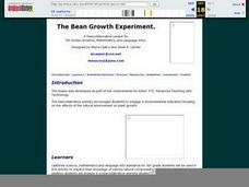 The Bean Growth Experiment Lesson Plan