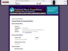 Choral Music by Samuel Barber Lesson Plan