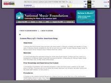 Native American Song Characteristics and Composing Project - Lesson 2 Lesson Plan