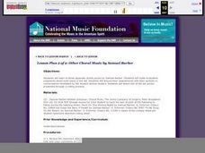 Other Choral Music by Samuel Barber Lesson Plan