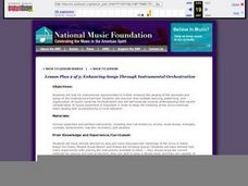 Enhancing Songs Through Instrumental Orchestration Lesson Plan