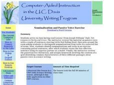 Nominalization and Passive Voice Exercise Lesson Plan