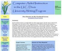 Peer Review on the Overhead Screen Lesson Plan