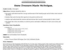 Snow Treasure: Marie McSwigan Lesson Plan