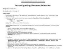 Investigating Human Behavior Lesson Plan