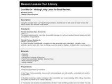 Lead Me On - Writing Lively Leads for Book Reviews Lesson Plan