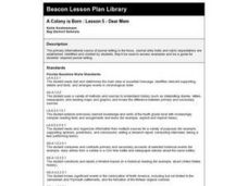 A Colony is Born : Lesson 5 - Dear Mem Lesson Plan
