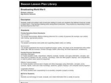 Broadcasting World War II Lesson Plan