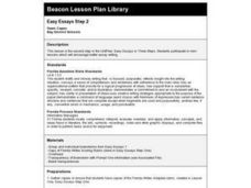 Easy Essays Step 2 Lesson Plan