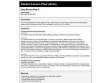 Easy Essays Step 3 Lesson Plan