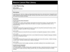I Just Want to Say Lesson Plan