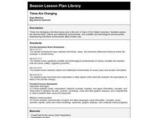 Times Are Changing Lesson Plan