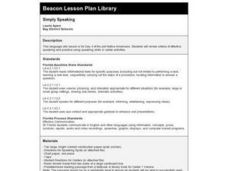 Simply Speaking Lesson Plan