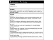 The Matrix Lesson Plan
