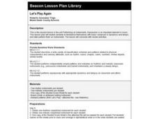 Let's Play Again Lesson Plan