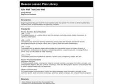 All's Well That Ends Well Lesson Plan