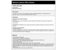 Listen and Learn Lesson Plan