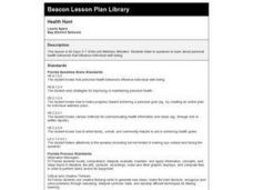 Health Hunt Lesson Plan