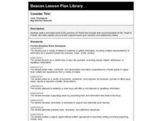 Consider This! Lesson Plan