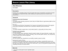 Alien Behaviors Lesson Plan