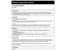 FIVE LITTLE PUMPKINS Lesson Plan