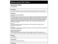 Nobody Does It Better Lesson Plan