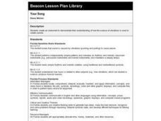 Your Song Lesson Plan