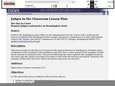 Her Day in Court Women Judges and Justice in Washington State Lesson Plan