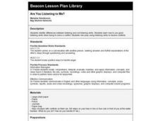 Are You Listening to Me? Lesson Plan