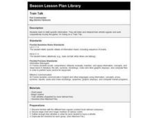 Train Talk Lesson Plan
