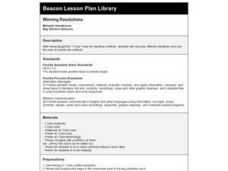 Winning Resolutions Lesson Plan