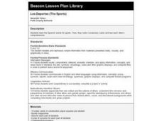 Los Deportes (The Sports) Lesson Plan