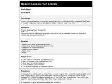 Verb Sheet Lesson Plan