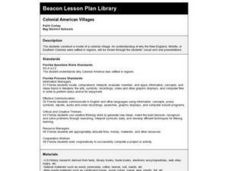 COLONIAL AMERICAN VILLAGES Lesson Plan