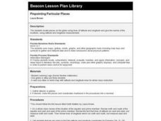 Pinpointing Particular Places Lesson Plan